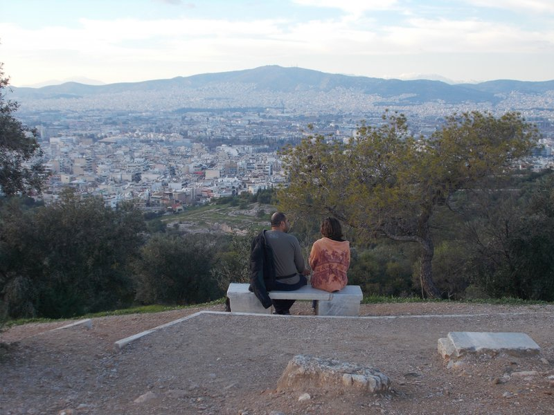 View from Philopappos Hill.