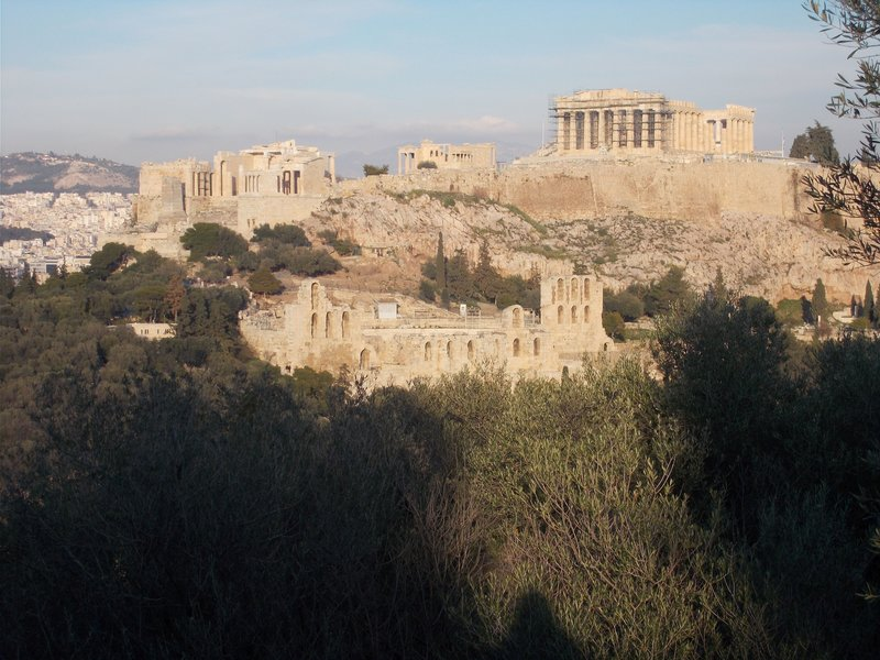 View back towards the Acropolis.