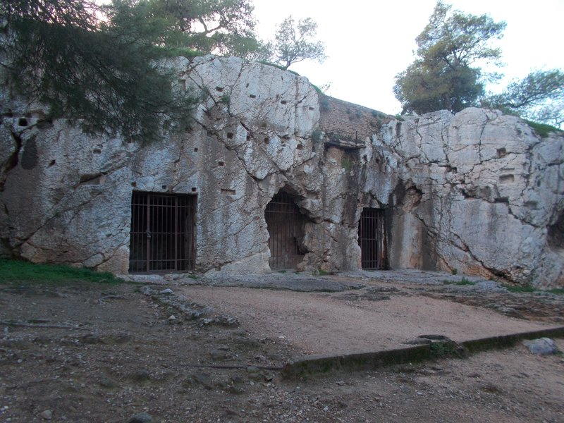 The prison of Socrates.