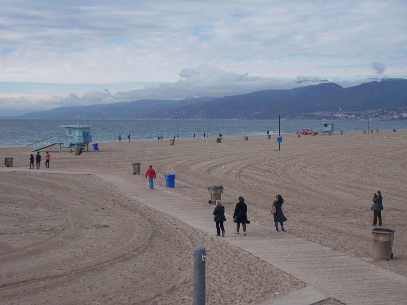 Santa Monica Beach.