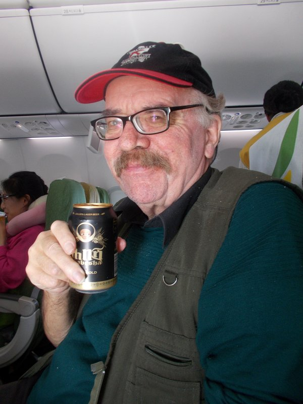 Peter on board with his Habesha beer.