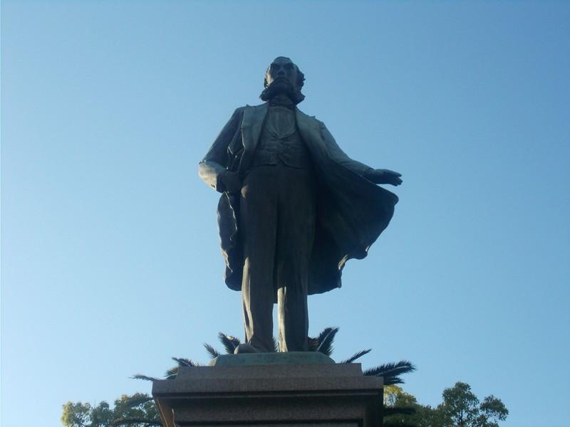 Statue of Ōkubo Toshimichi.
