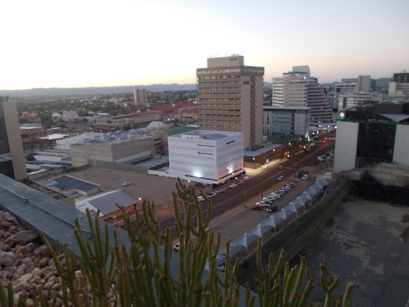 View over Windhoek from the pool.