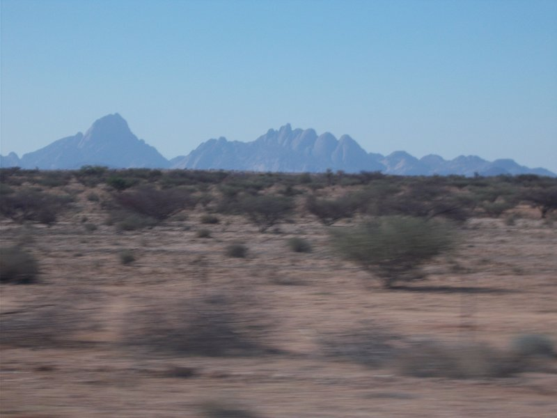 Passing Spitzkoppe.