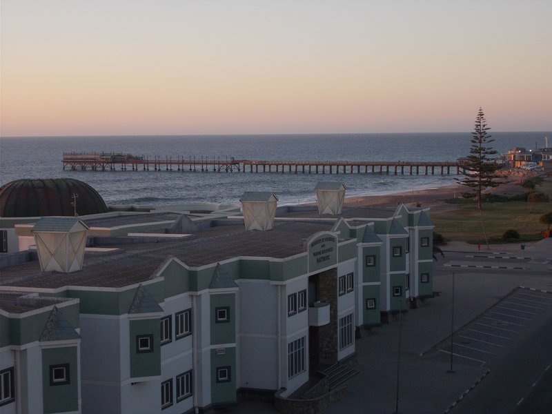 View from our roof towards Swakopmund Pier.