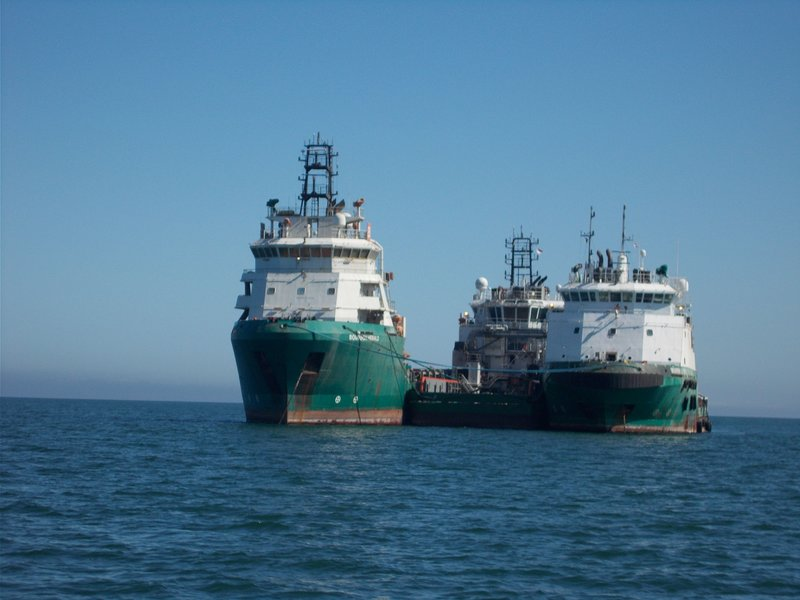 Ships in Walvis Bay.