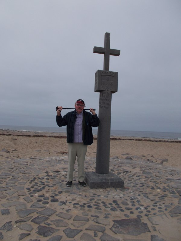 Peter with the historical crosses.