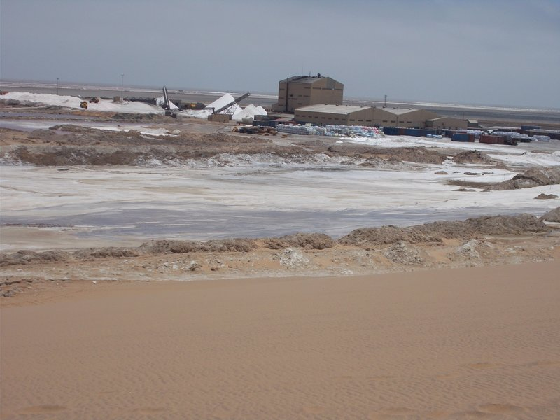 Salt factory.