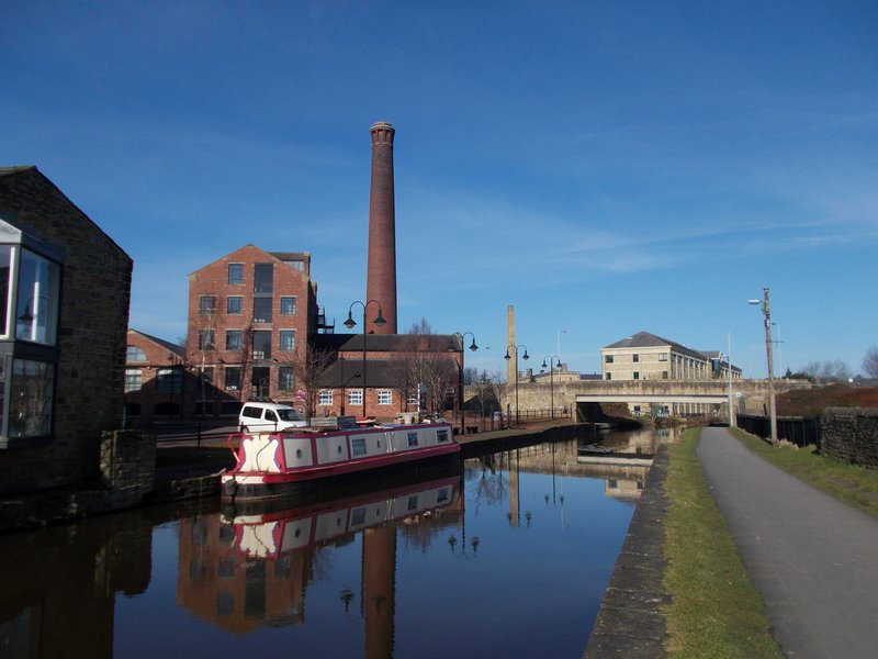 The Leeds and Liverpool Canal.