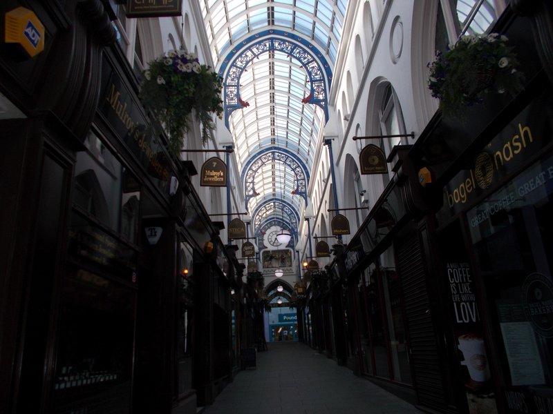 Shopping arcade, Leeds.