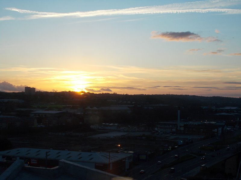 Sunset over Leeds.