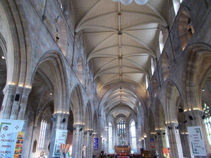 Inside St Michael's Church.