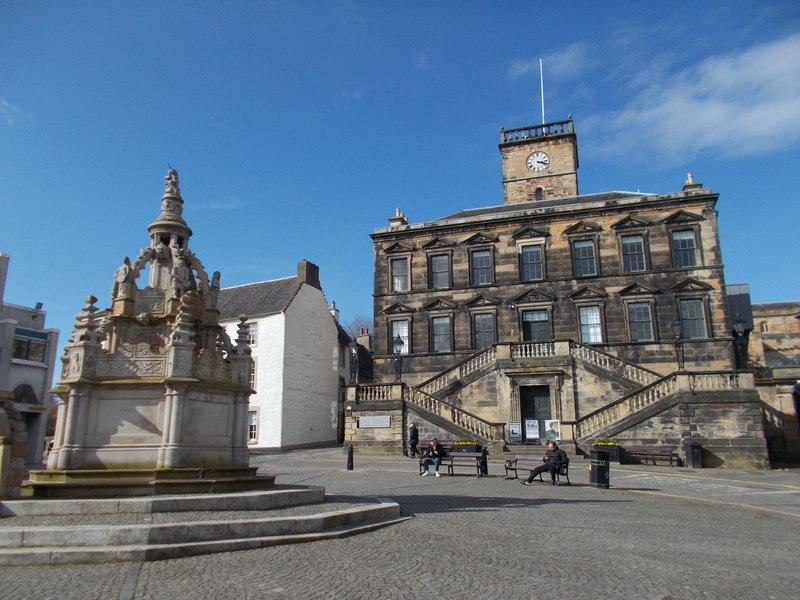 Borough Halls and Cross Well.