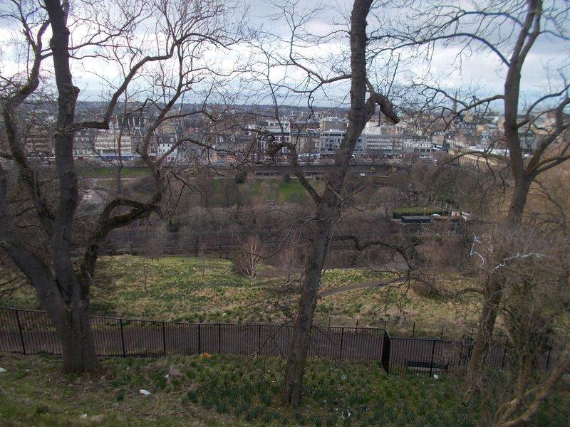 View over Princes Street Gardens.
