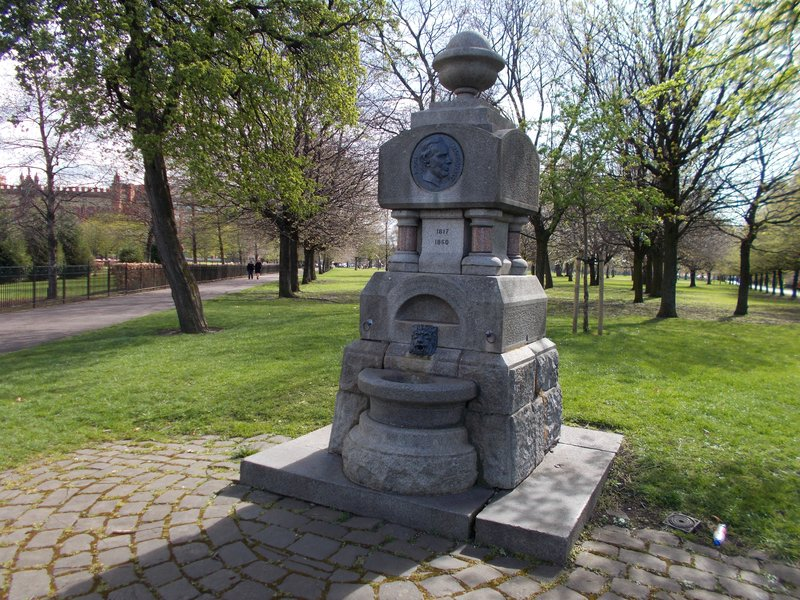 The Hugh MacDonald Fountain.