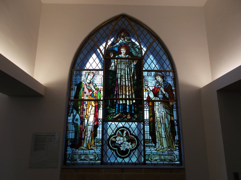 Stain glass window in the museum.