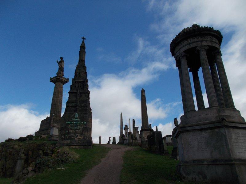 John Knox Column; Duncan MacFarlan grave.