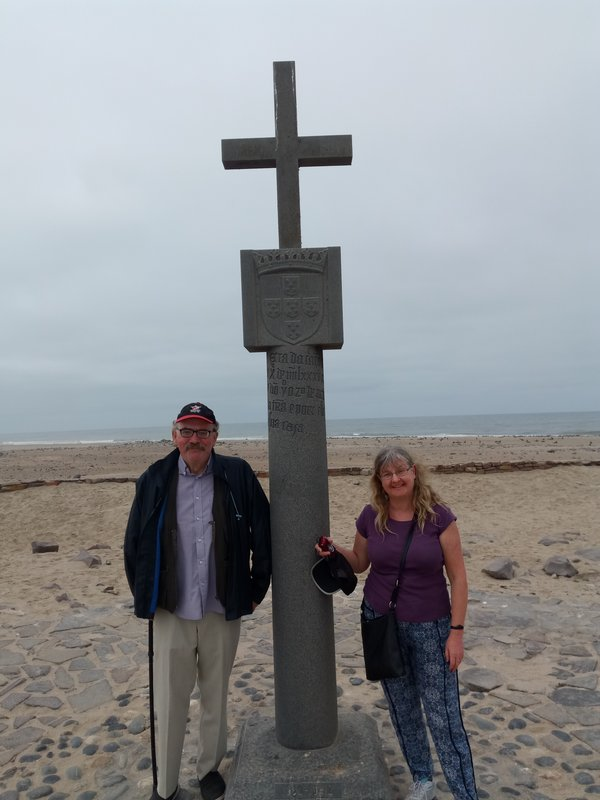 Both of us at Cape Cross.