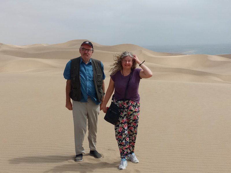 Enjoying the dunes.