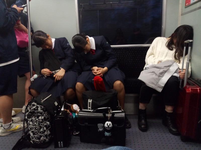 Exhausted School Children.