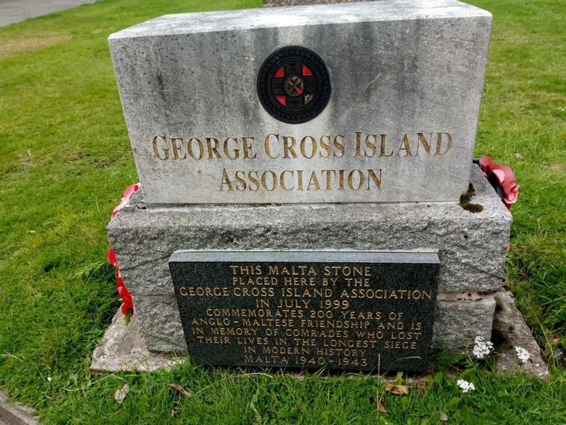 George Cross Memorial.