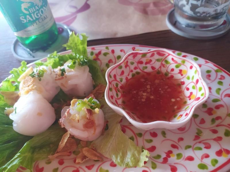 White rose dumplings.
