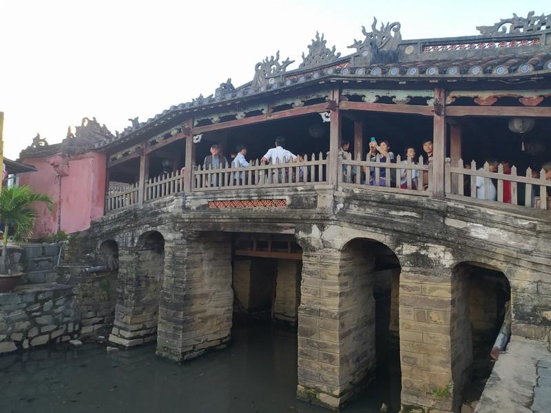 Japanese covered bridge.