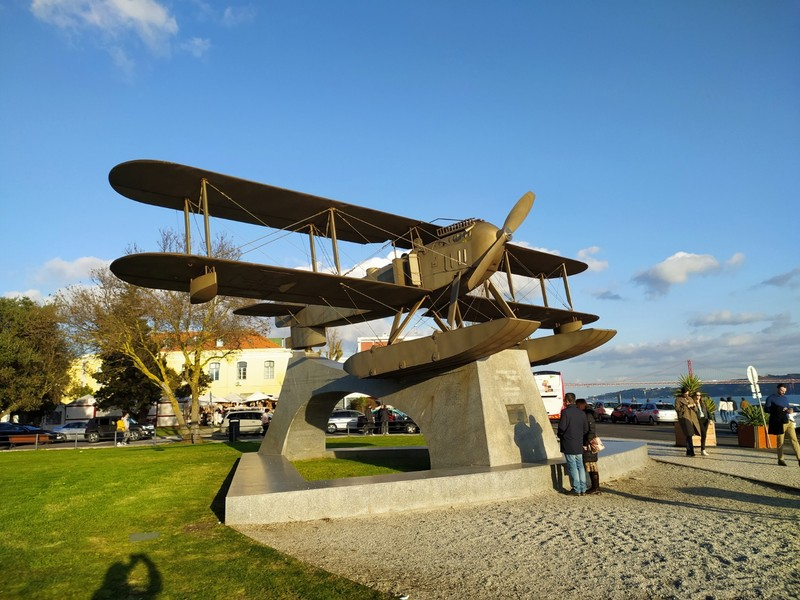 The biplane monument.
