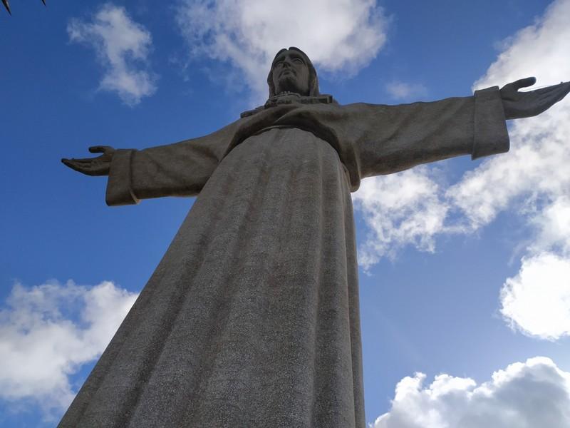Christ statue.