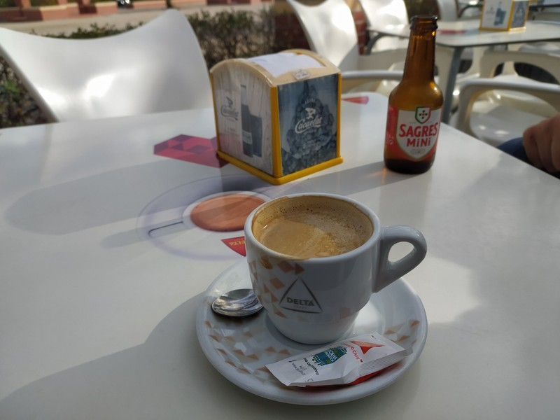 In the cafe.