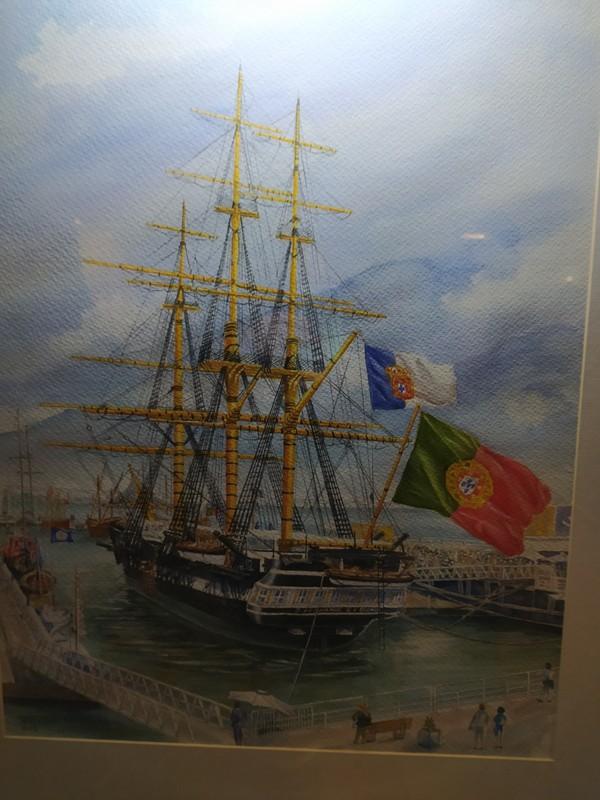 A painting of The Dom Fernando II e Glória in her heyday.