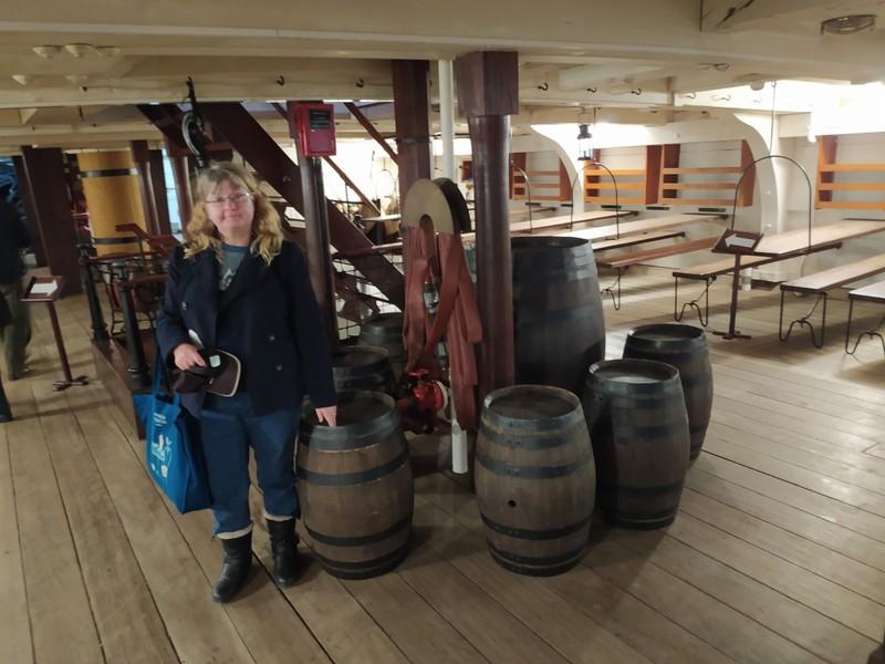 Storage barrels.