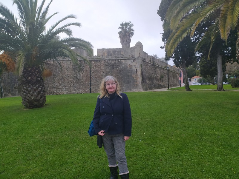 In front of the fortress.