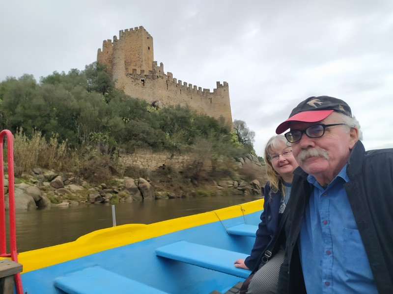 On our visit to Almourol Castle.