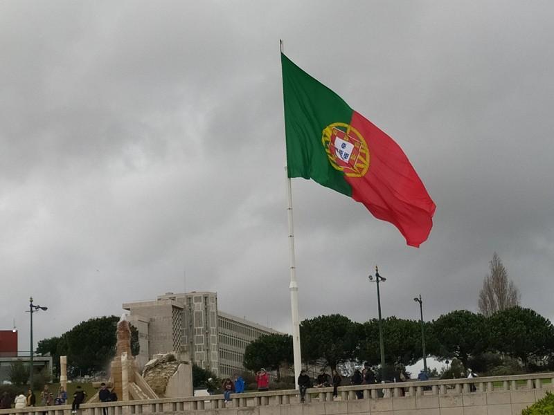 Huge Portuguese flag.