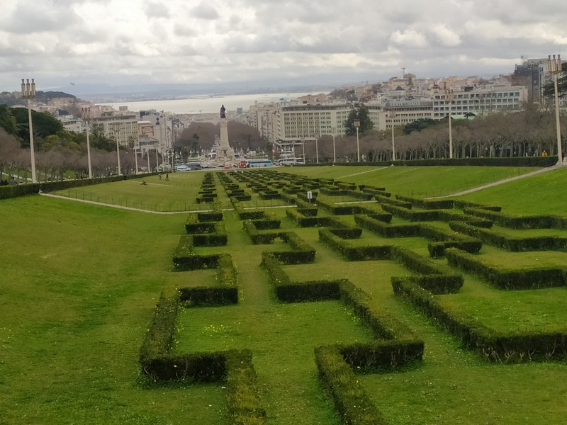 Central grassy area and view.