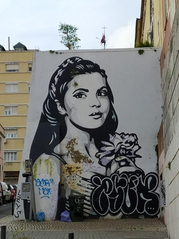 Mural of Inez by Ener Konings.