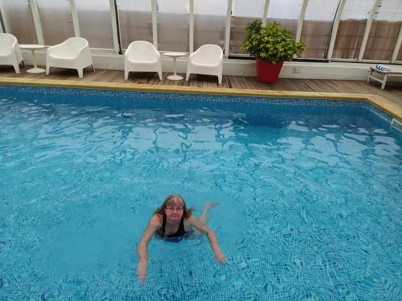 Last swim.