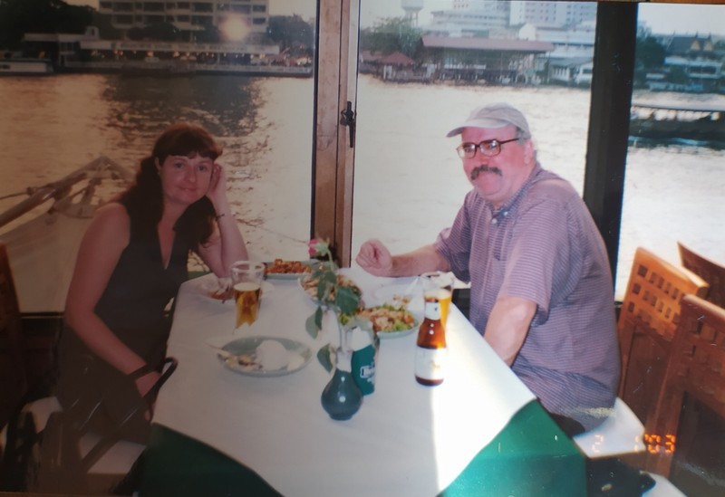 Us in our favourite restaurant in Bangkok.