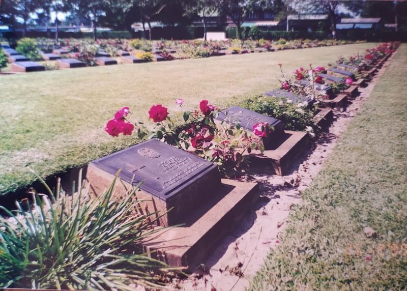 The war cemetery.