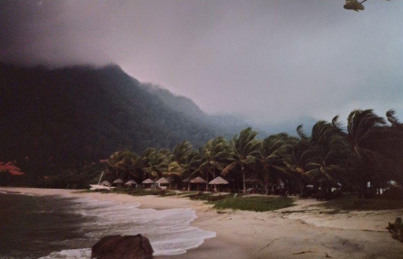 Beach during the storm.