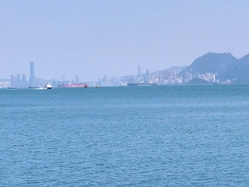Hong Kong Island in the distance.