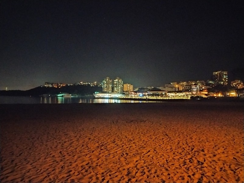 Beach by night.