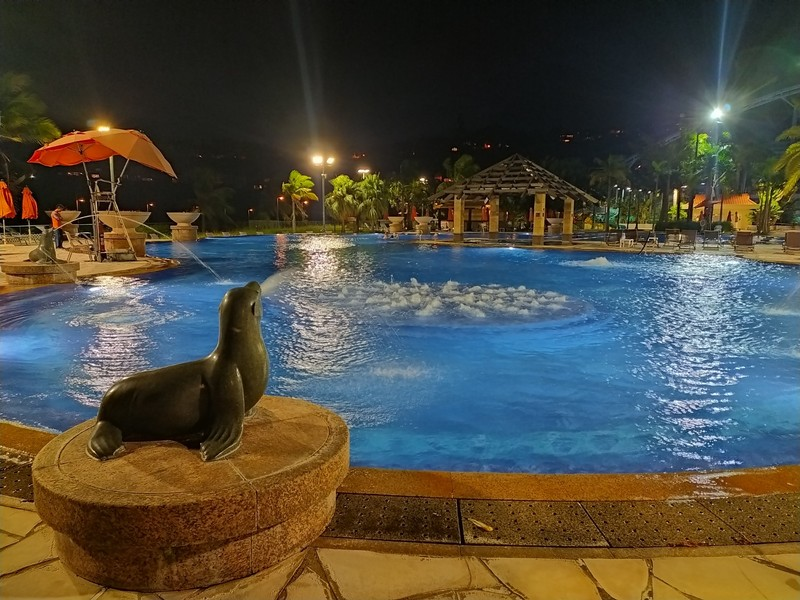 Pool at our sports club by night.