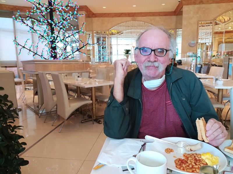 Peter at breakfast.