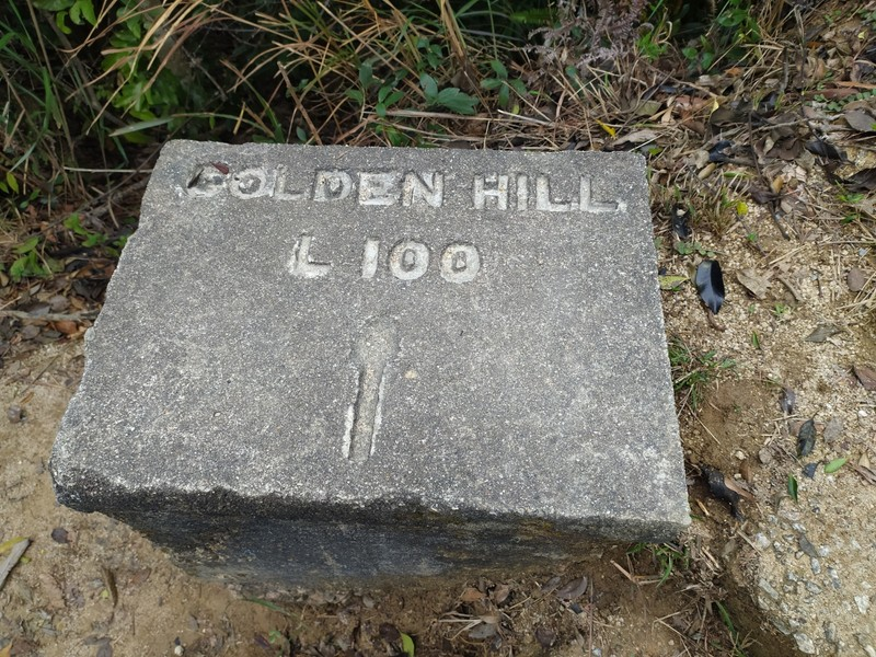 Military Marker indicating Golden Hill.