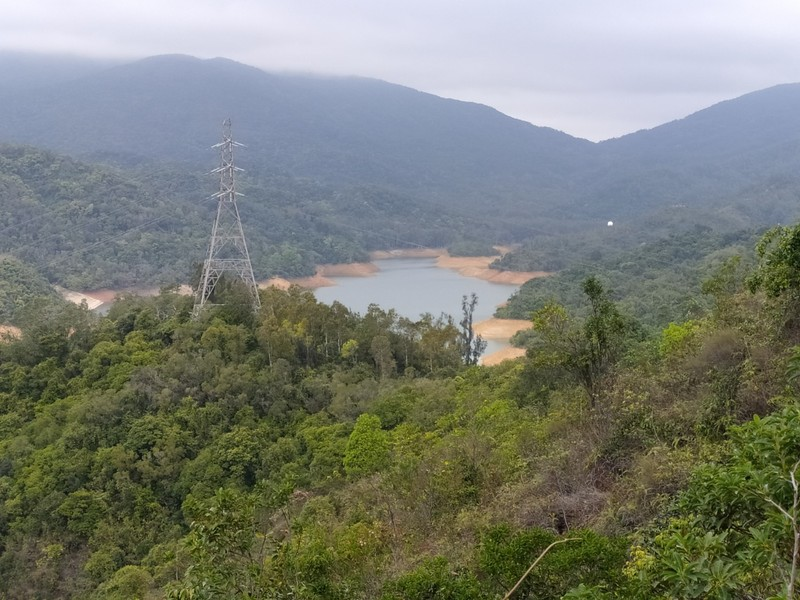 View of the Shing Mun Reservoir from Smuggler's Ridge.