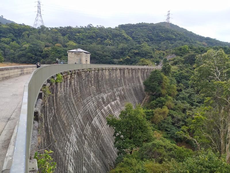 Kowloon Reservoir Dam Wall.