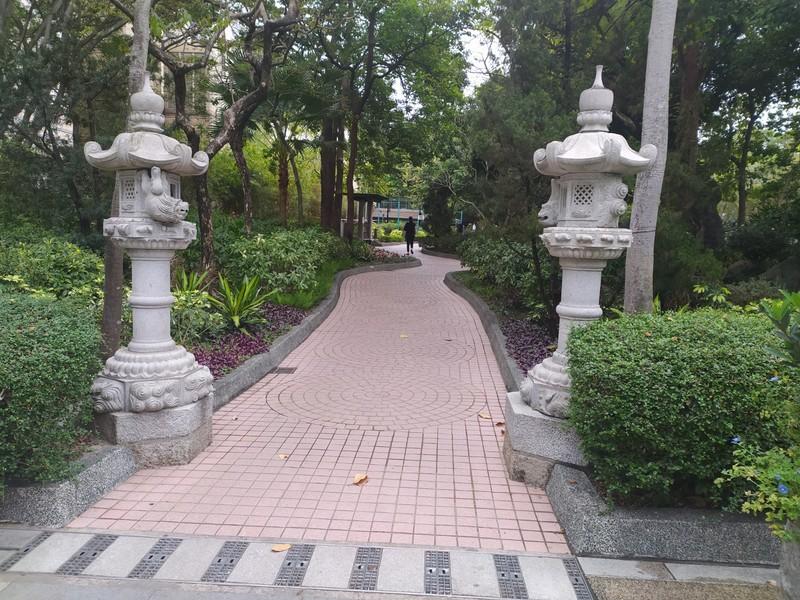 Lanterns, near the entrance to the park.