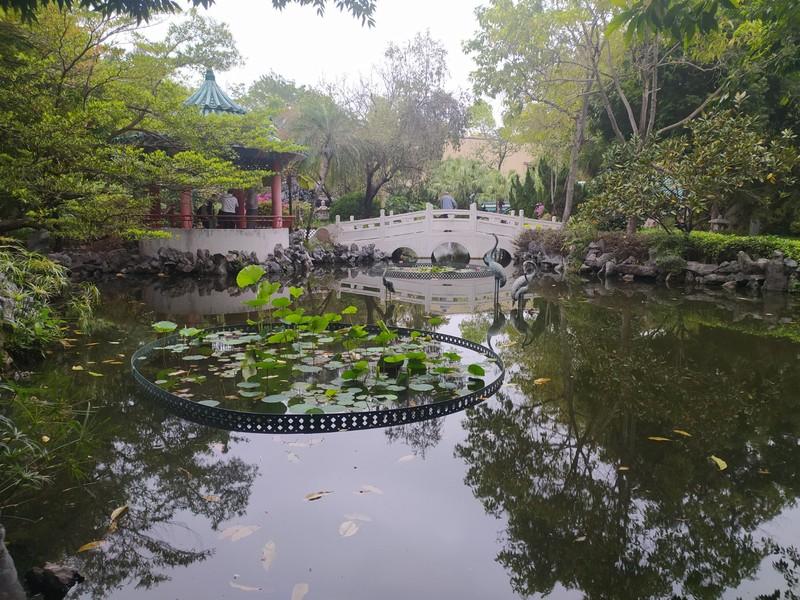 Ponds, Pagoda and Bridge.